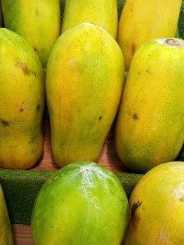 The best papaya are fully yellow and hard.